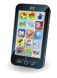 smart mobil ny telefon stock illustrationer