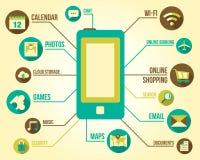 smart mobil telefon royaltyfri illustrationer