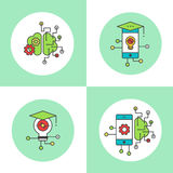 Smart Mobile Application Settings Icon Set Royalty Free Stock Photo