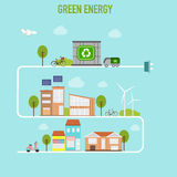 Smart  modern cities ecology design  concept infographics elemen Royalty Free Stock Photos