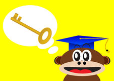 Smart monkey Royalty Free Stock Photo