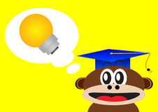 Smart monkey Royalty Free Stock Images