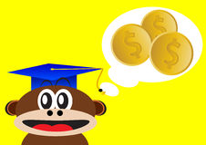 Smart monkey Stock Photo