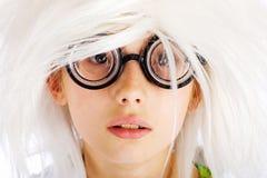 Smart, nerdy kid Royalty Free Stock Photo