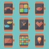 Smart observe l'ensemble d'icône Image libre de droits