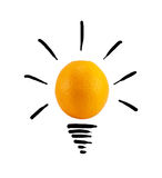 Smart orange idea Royalty Free Stock Images