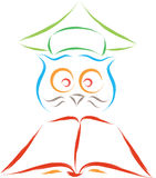 Smart owl Royalty Free Stock Image