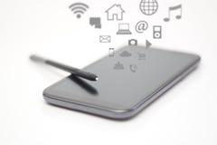 Smart penna för anmärkningar och Apps Royaltyfri Bild