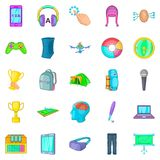 Smart people icons set, cartoon style. Smart people icons set. Cartoon set of 25 smart people vector icons for web isolated on white background vector illustration