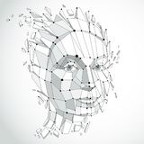 Smart person and mind concept, human head exploding and breaks i Royalty Free Stock Images