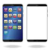 Smart phone. Illustration of a smart phone, touch-phone Royalty Free Stock Photo