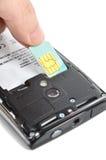 Smart phone. And sim card Stock Photo