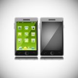 Smart Phone. Easy to edit vector illustration of smart phone with application stock illustration