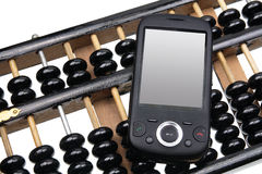 Smart Phone on Abacus Royalty Free Stock Photo