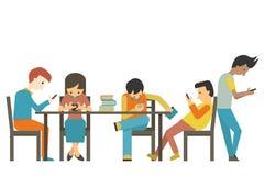 Smart phone addiction Royalty Free Stock Image