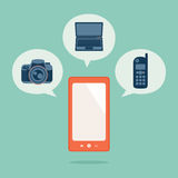Smart phone. All in one concept Royalty Free Stock Photo