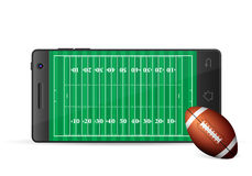 Smart phone american football Royalty Free Stock Images