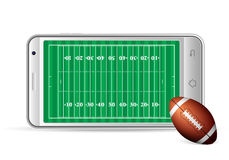Smart phone american football Royalty Free Stock Photography