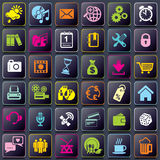 Smart Phone app icons Stock Photo