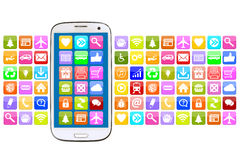 Smart phone with application apps app for internet Stock Image