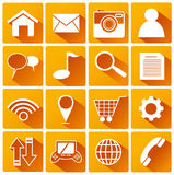 Smart Phone Application Flat Icons Stock Photo