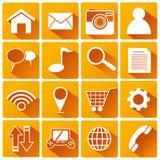 Smart Phone Application Flat Icons Stock Photo