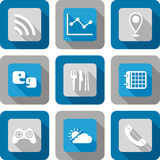 Smart phone application icon set Royalty Free Stock Photo