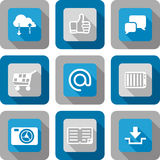 Smart phone application icon set Royalty Free Stock Image