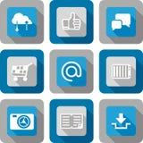 Smart phone application icon set Royalty Free Stock Image