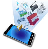 Smart phone application icons Royalty Free Stock Photo