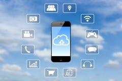Smart phone application Royalty Free Stock Photos