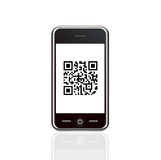 Smart phone with barcode Stock Photography