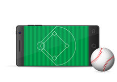 Smart phone baseball Royalty Free Stock Image