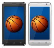Smart phone basketball Stock Image
