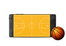 Smart phone basketball Royalty Free Stock Photography