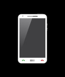 Smart Phone bianco Fotografia Stock