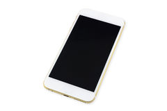 Smart phone with black screen isolated on white Stock Photos