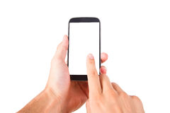 Smart Phone with Blank Screen Royalty Free Stock Photography