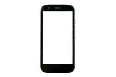 Smart phone with blank screen. Isolated on white background Stock Photography