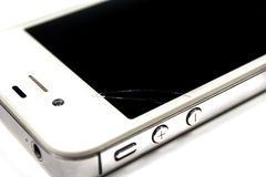 Smart phone is broken on screen royalty free stock images