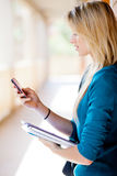 Smart phone browsing internet Royalty Free Stock Image