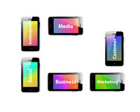 Smart phone business information media cover Royalty Free Stock Photography