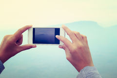 Smart phone camera taking photo picture Stock Photos