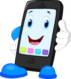 Smart phone cartoon calling Royalty Free Stock Photo