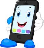 Smart phone cartoon calling Royalty Free Stock Photo