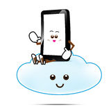 Smart phone cartoon 011 Royalty Free Stock Image
