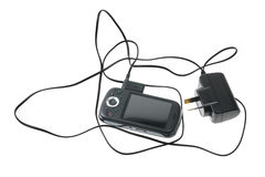 Smart Phone and Charger Stock Image