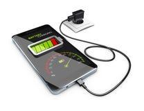 Smart Phone che carica batteria, illustrazione 3d Immagini Stock