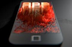 Smart Phone che emana App Fotografia Stock Libera da Diritti
