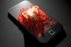 Smart Phone che emana App Immagine Stock Libera da Diritti